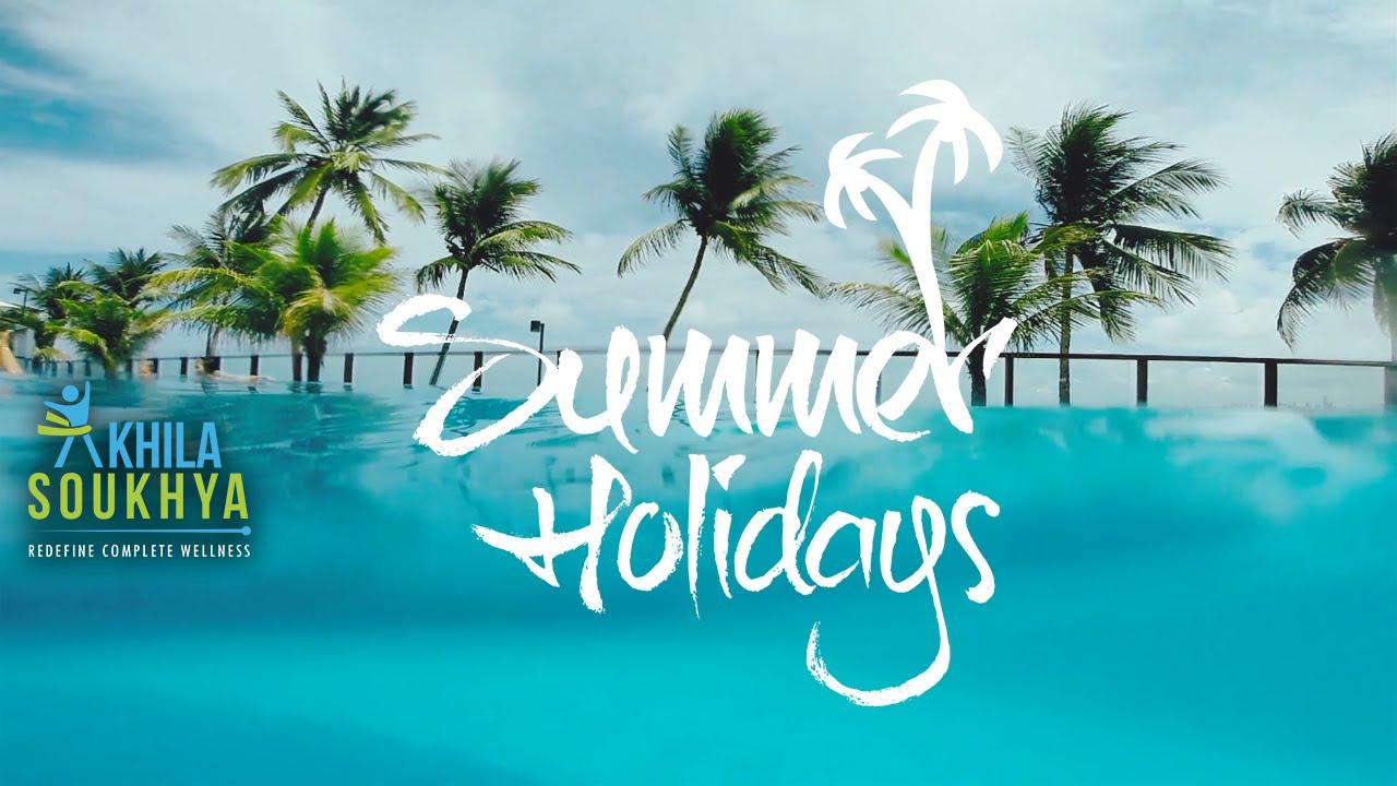 summer holiday and food